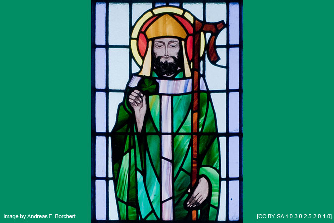 St. Patrick stained glass window - Image by Andreas F. Borchert [CC BY-SA 4.0]