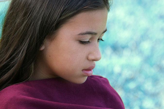 girl sitting in silence