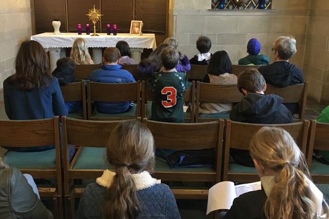 class at Adoration