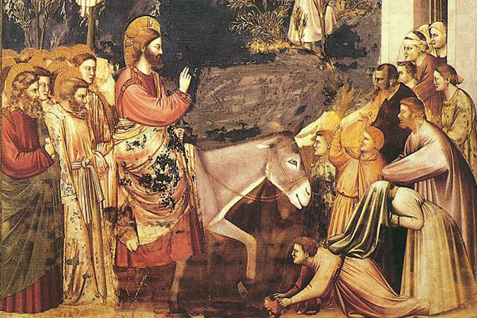 "Giotto di Bondone - ""Entry into Jerusalem"""