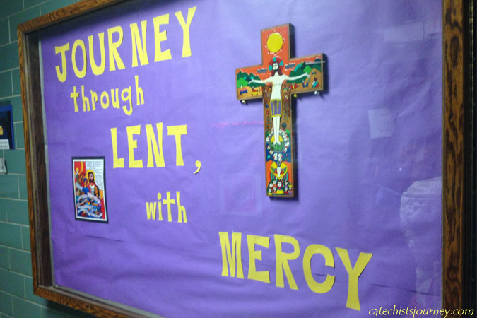 Lent bulletin board