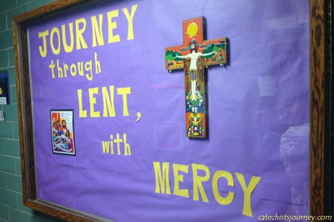 Lent bulletin board