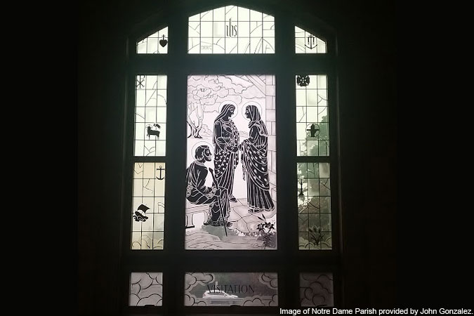 Visitation window at Notre Dame Parish - New York provided by John Gonzalez