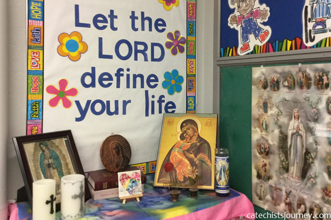 classroom prayer corner - photo by Barb Gilman
