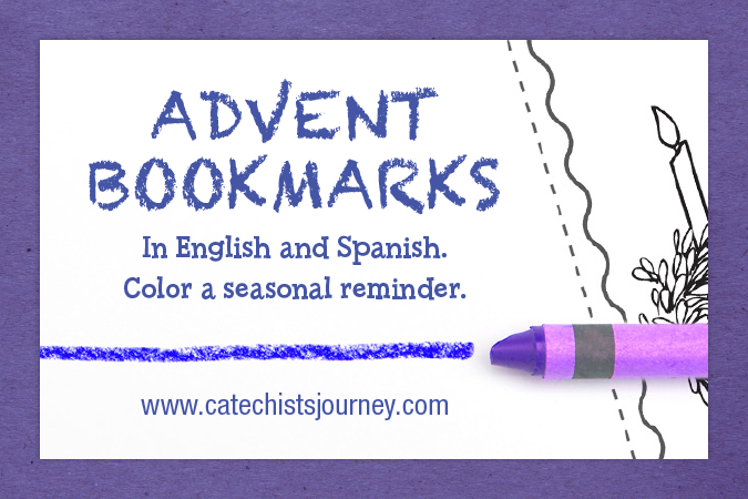Advent bookmarks to color