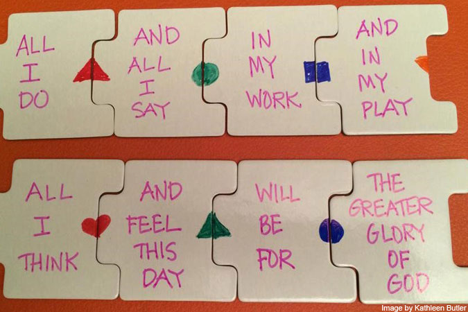 prayer puzzle - photo by Kathleen Butler