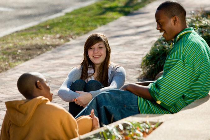 teens in conversation