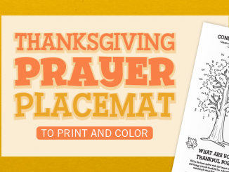 Thanksgiving Prayer Placemat