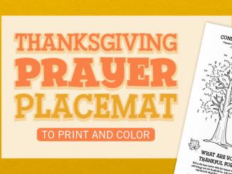 Thanksgiving Prayer Placemat