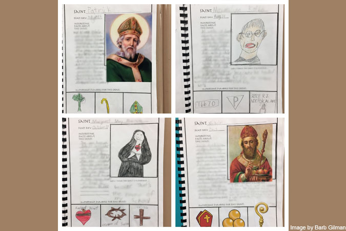saints sheets - image courtesy Barb Gilman