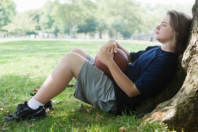 young teen relaxing