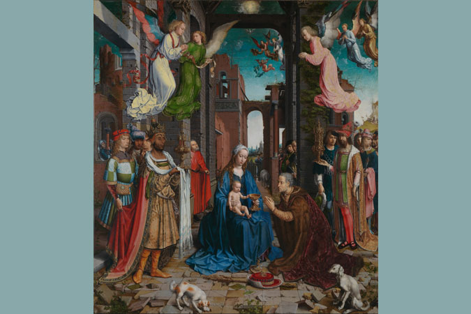 The Adoration of the Magi by Jan Gossaert [Public domain], via Wikimedia Commons