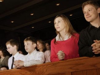 families at Mass