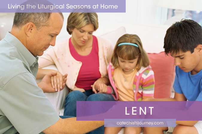 family praying together - Living the Liturgical Seasons at Home - Lent