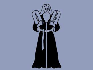 Moses with Ten Commandments tablets