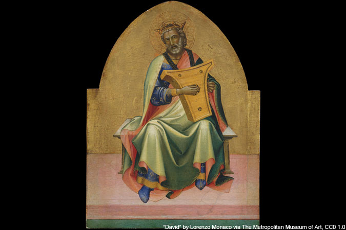 David by Lorenzo Monaco via The Metropolitan Museum of Art CC0 1.0