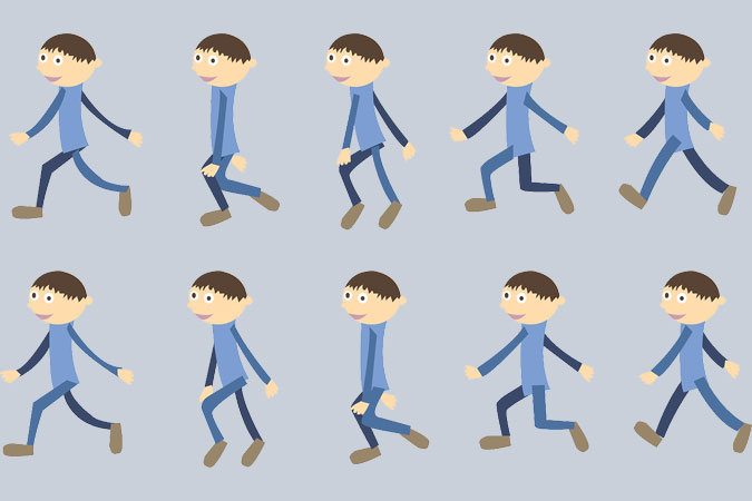 bodily movement - walking illustrations