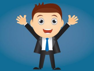 excited young man cartoon