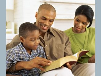 family with Bible
