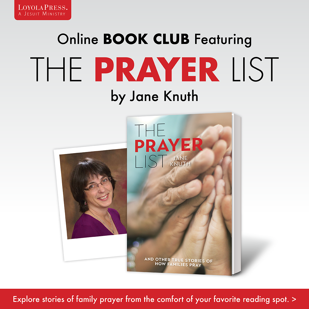 The Prayer List by Jane Knuth - online book club at Catechist's Journey