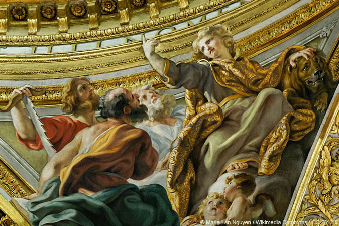 major prophets by il Baciccio - dome of the Gesu in Rome - © Marie-Lan Nguyen / Wikimedia Commons / CC-BY 2.5