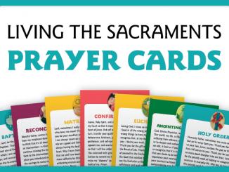 Living the Sacraments Prayer Cards