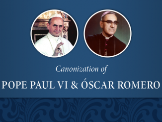 Canonization of Pope Paul VI and Oscar Romero