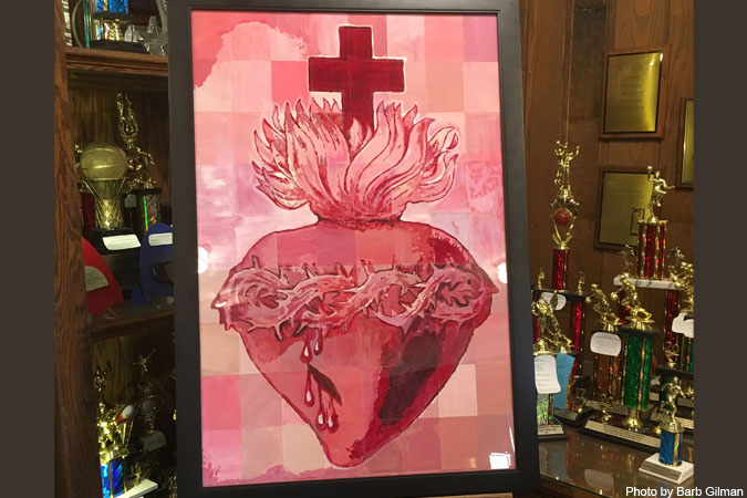 collaborative art - Sacred Heart - photo by Barb Gilman