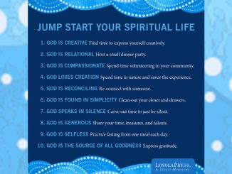 Jump Start Your Spiritual Life - words on blue setting