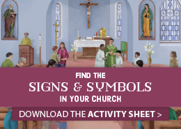 Find the Signs and Symbols in Your Church worksheet