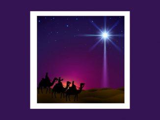 Magi following star