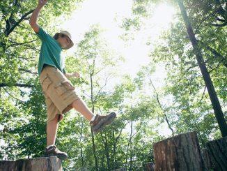 boy balancing