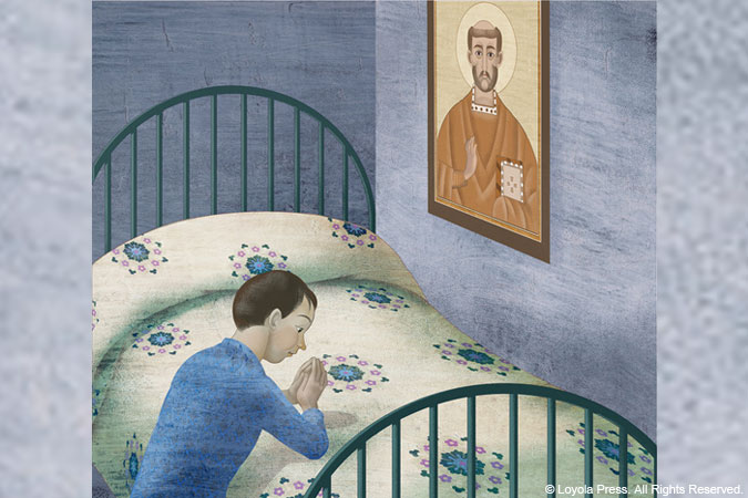 prayer at bedside - image © Loyola Press. All Rights Reserved.