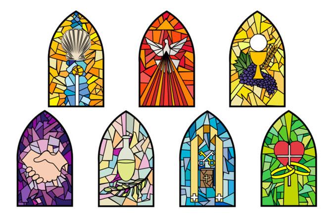 symbols of the Seven Sacraments