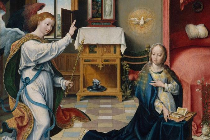 Annunciation by Joos van Cleve