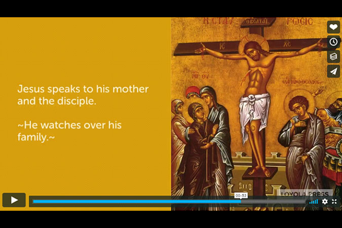 "video screenshot of ""How Jesus Responds to Suffering as Demonstrated in the Scriptural Stations of the Cross"""