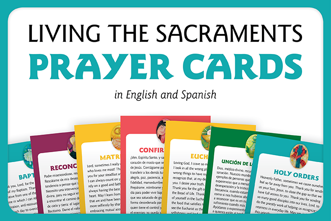 Living the Sacraments Prayer Cards in English and Spanish