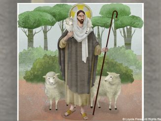 Good Shepherd illustration - © Loyola Press. All rights reserved.