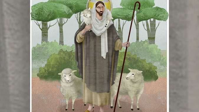 Good Shepherd illustration - © Loyola Press. All rights reserved.