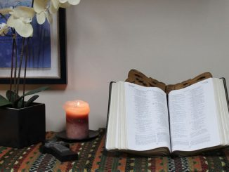 Bible open in prayer center