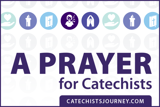 A Prayer for Catechists - text next to icons indicating forms of prayer