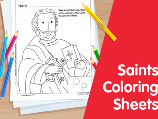 Saints Coloring Sheets - image of St. Peter as sample of the sheets
