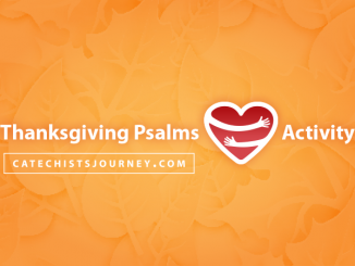 Thanksgiving Psalms Bumper Stickers Activity - text on background of muted leaves