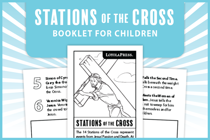 Stations of the Cross booklet for children