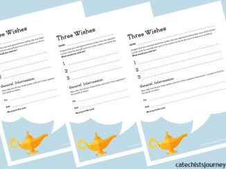 Three Wishes activity from Catechist's Journey