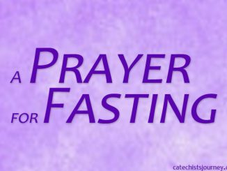 prayer for fasting - text on purple background