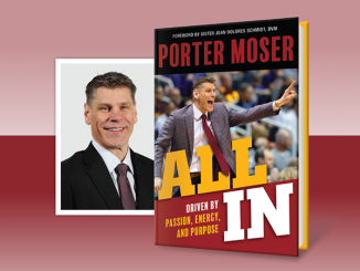 All In by Porter Moser - book cover and author headshot