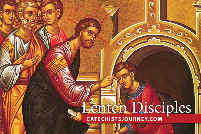 Lenten Disciples - icon of Jesus giving sight to man born blind