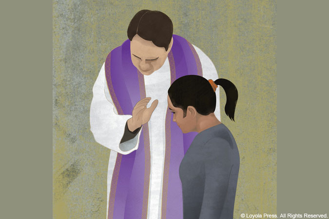 Reconciliation illustration - copyright Loyola Press - All rights reserved