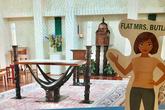 Flat catechist virtually visits the chapel – image provided by Kathleen Butler